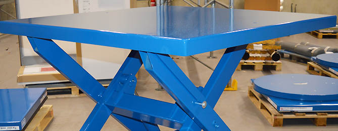 Scissor Lift With Foot Pump And Trolley Frame Jihab Sales Ab